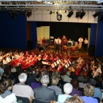 Longdean School Hemel Hempstead May 2005 Massed bands conducted by Head of Music Pauline Emeny