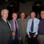 Pre-Contest 2005 Former bandsmen: Deryck Diffey, Norman Parker, Brian Fuller, John Hill, Ray Thompson