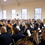 Massed Band rehearsal Montclair NJ