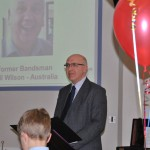 Malcolm Hynd reads a message from Phil Wilson
