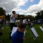 YP Band leader at Town Show 2015