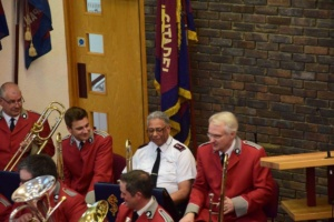 Commissioner Adams being welcomed to the Trombone section